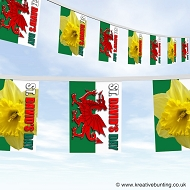 St. Davids day - Welsh bunting