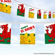 St. Davids day - Welsh bunting 3