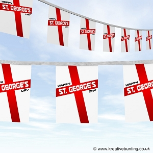 St. George's Day bunting - George Cross Flag Design