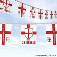 St. George's Day bunting - sword and shield design