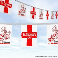 St. George's Day bunting - Knight with Sword design