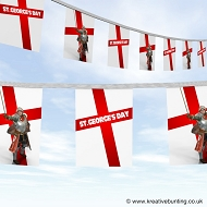 St. George's Day bunting - St George Knight design