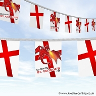 St. George's Day bunting - Dragon design