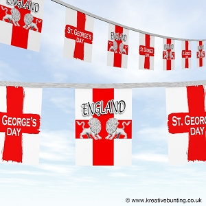 St. George Bunting - twin lions Design