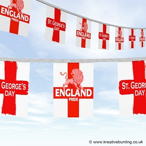 St George - England Bunting - pride Lion design