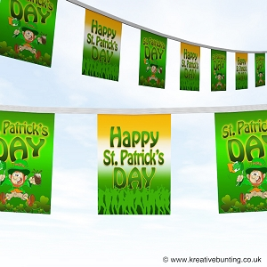 St Patrick's day bunting - Merry leprechaun and dancers design