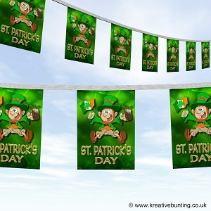 St Patrick's day bunting - Merry leprechaun design