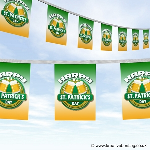 St Patrick's day bunting - cheers design