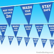 NHS Stay Safe, Wash Hands, Keep your distance bunting
