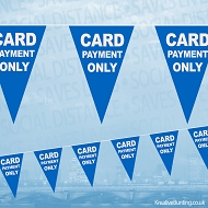 Card Payment Only Bunting