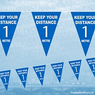 Keep Your Distance 1 Metre Bunting