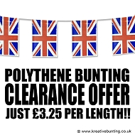 Polythene British Union Jack bunting