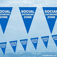 Social Distancing Zone Bunting