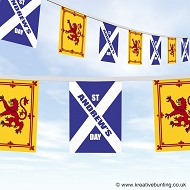 St. Andrew's Day Bunting - Saltire Lion Design