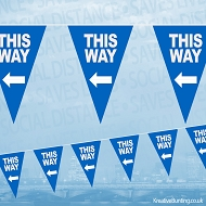 This Way (Left) Bunting