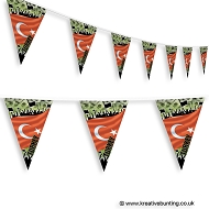 Turkey Football Bunting - Crowd Design