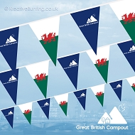 Great British Campout (Wales Version) Bunting