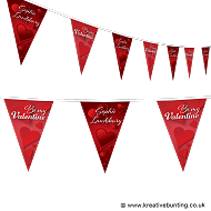 Personalised Be My Valentine Bunting