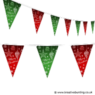 Christmas Bunting - Drawn Decorations Design