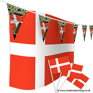 Denmark Football Bunting & Flag Bundle