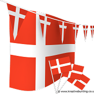 Denmark Bunting and Flags Bundle