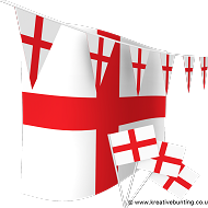 England Football Bunting & Flag Bundle
