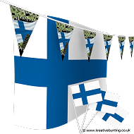 Finland Football Bunting & Flag Bundle