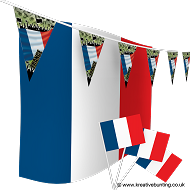 France Football Bunting & Flag Bundle