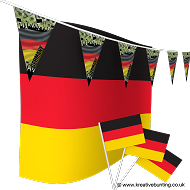 Germany Football Bunting & Flag Bundle