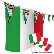Italy Football Bunting & Flag Bundle