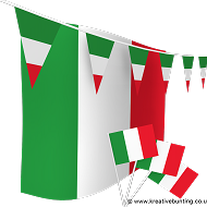 Italy Bunting and Flags Bundle