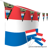 Netherlands Football Bunting & Flag Bundle