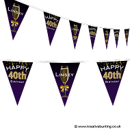 Personalised Birthday Bunting - Champagne Design