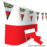 Poland Football Bunting & Flag Bundle