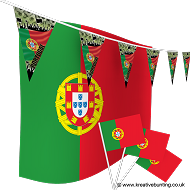 Portugal Football Bunting & Flag Bundle