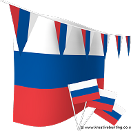 Russia Bunting and Flags Bundle