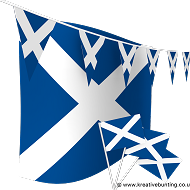 Scotland Bunting and Flags Bundle