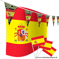 Spain Football Bunting & Flag Bundle
