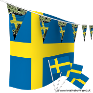 Sweden Football Bunting & Flag Bundle