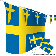 Sweden Bunting and Flags Bundle
