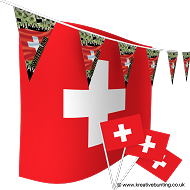 Switzerland Football Bunting & Flag Bundle