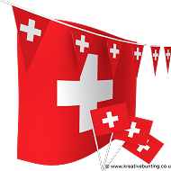 Switzerland Bunting and Flags Bundle