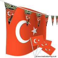 Turkey Football Bunting & Flag Bundle