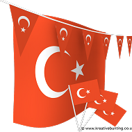 Turkey Bunting and Flags Bundle