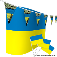 Ukraine Football Bunting & Flag Bundle