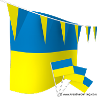 Ukraine Bunting and Flags Bundle