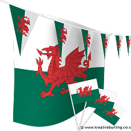 Wales Bunting and Flags Bundle