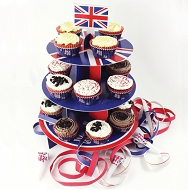 Union Jack / Great Britain Party Cake Stand