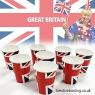 Union Jack Paper Cups - 8 packs