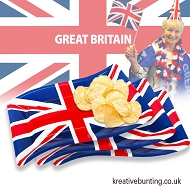 Union Jack / Great Britain Snacking Trays  (8 Pack)